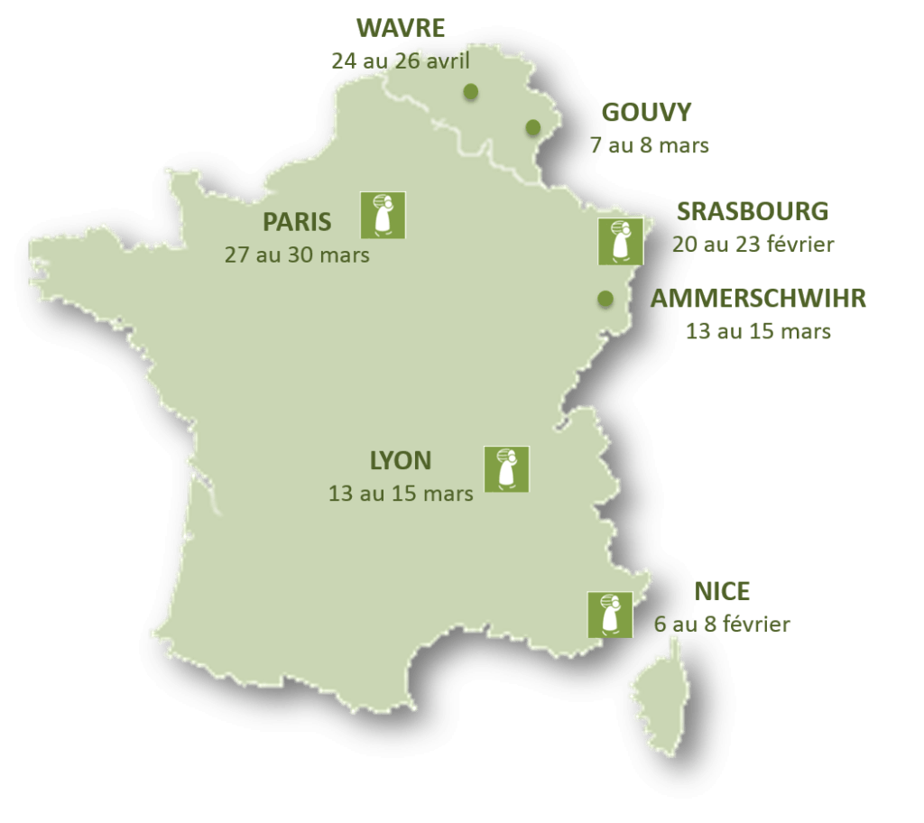 Carte des salons Printemps 2015