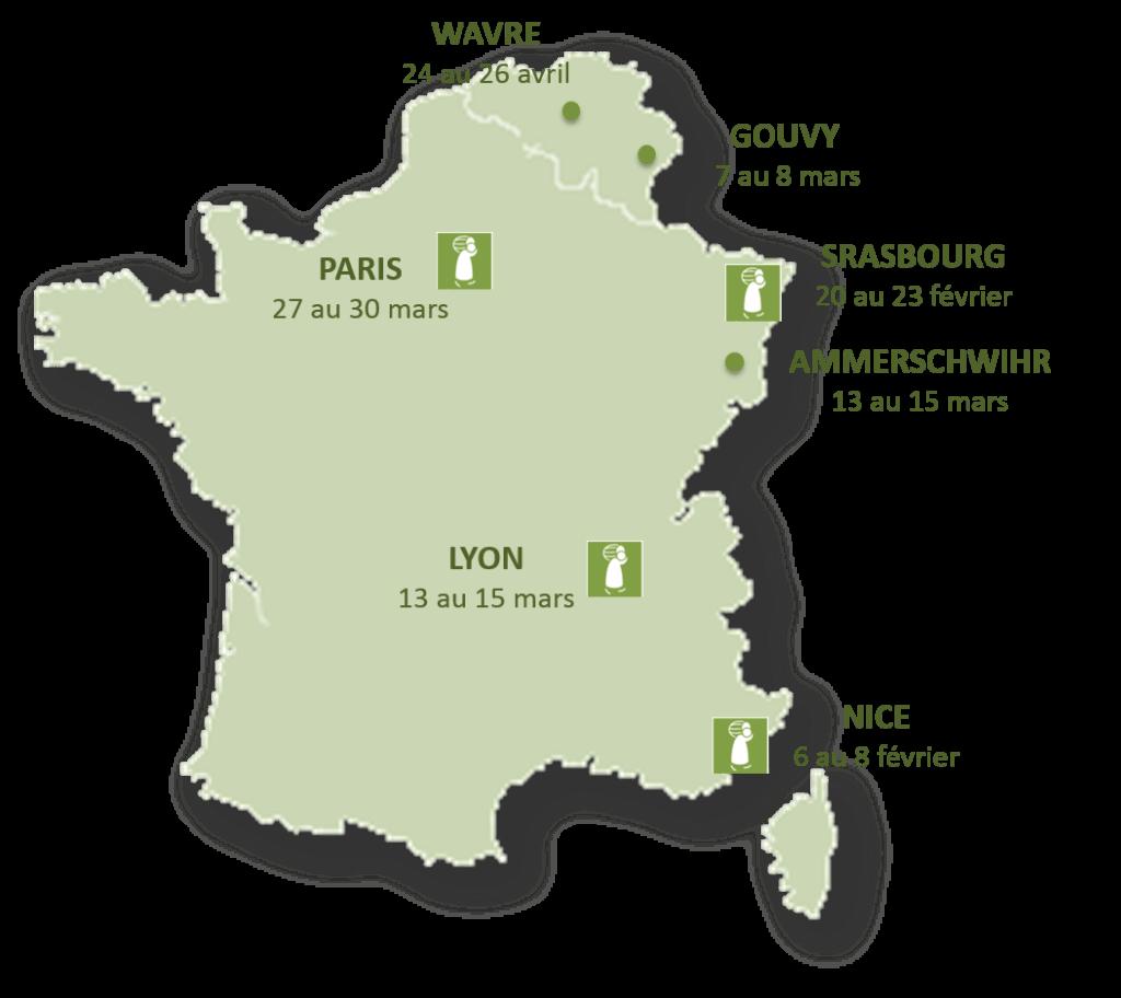 Carte des salons Printemps 2015