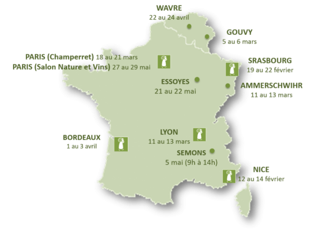 Carte des salons Printemps 2016